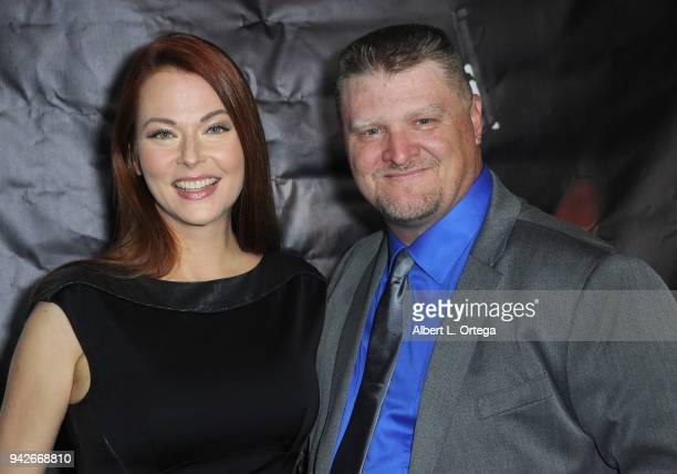 Actress Anna Easteden and producer Jason F Knittle arrive for the Los Angeles Premiere of 'Miles To Go' held at Writers Guild Theater on April 5 2018...