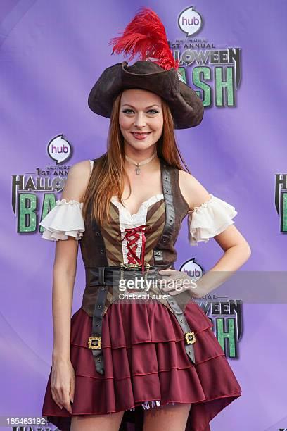 Actress Anna Easteden arrives at Hub Network's 1st annual Halloween bash at Barker Hangar on October 20 2013 in Santa Monica California
