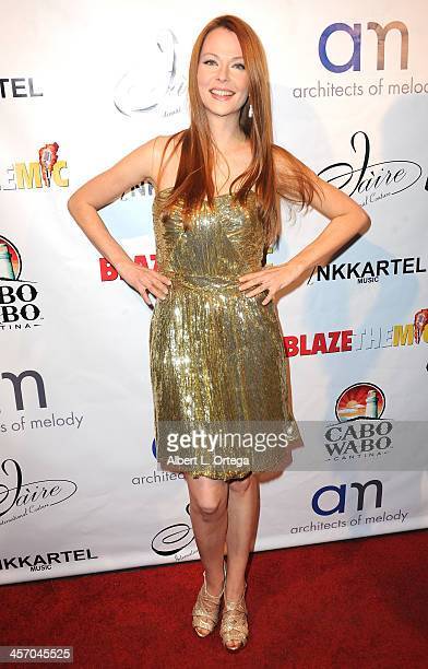 Actress Anna Easteden attends Britticares Toy Drive with a benefit concert by G Tom Mac Many Of Odd Nature in conjunction with publicist Michael...