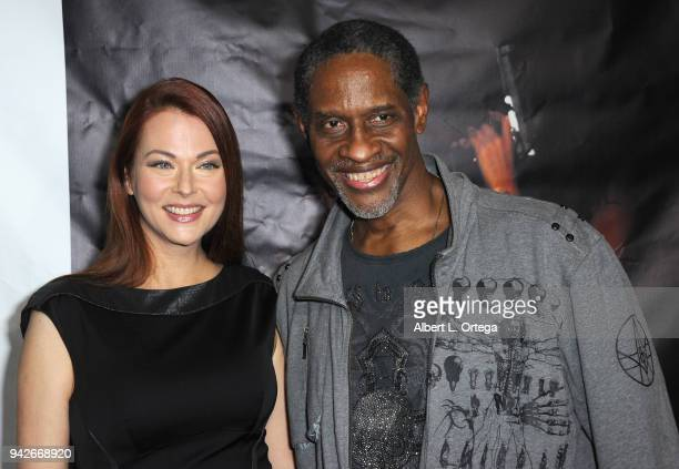 Actress Anna Eastedenand actor/director Tim Russ arrive for the Los Angeles Premiere of 'Miles To Go' held at Writers Guild Theater on April 5 2018...