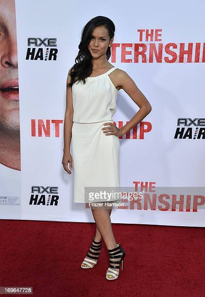 Actress Anna Enger arrives at the Premiere Of Twentieth Century Fox's The Internship on May 29 2013 in Westwood California