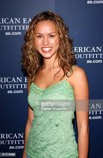 Actress Anna Enger attends AE Jeans Will Rock You Campaign at the Ivar on August 24 2004 in Hollywood California