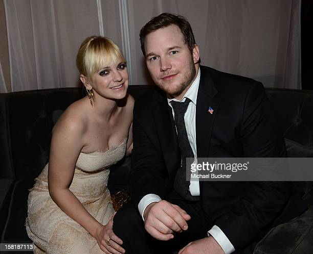 Actress Anna Faris and actor Chris Pratt attend the after party for the premiere of Columbia Pictures' Zero Dark Thirty at the Dolby Theatre on...