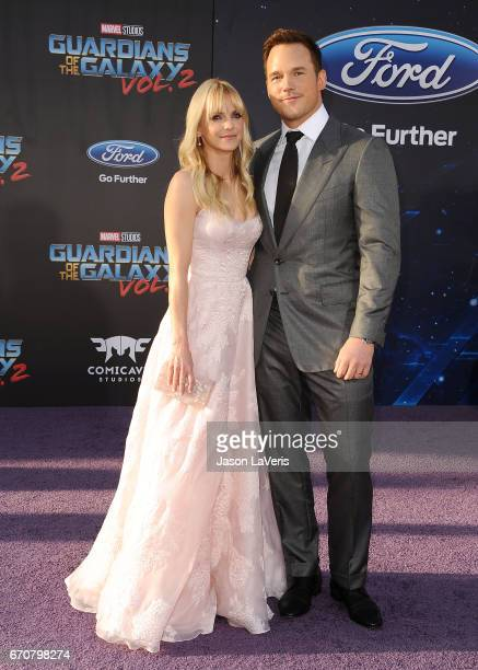 """Actress Anna Faris and actor Chris Pratt attend the premiere of """"Guardians of the Galaxy Vol. 2"""" at Dolby Theatre on April 19, 2017 in Hollywood,..."""