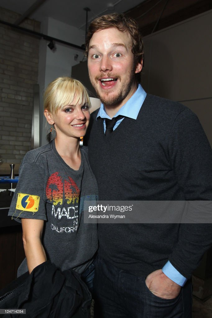 Actress Anna Faris and Chris Pratt attend 'A Dangerous Method' party hosted by GREY GOOSE Vodka at Soho House Pop Up Club during the 2011 Toronto International Film Festival on September 10, 2011 in Toronto, Canada.