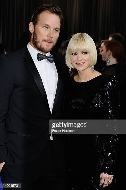 Actress Anna Faris and guest arrive at the 84th Annual Academy Awards held at the Hollywood Highland Center on February 26 2012 in Hollywood...