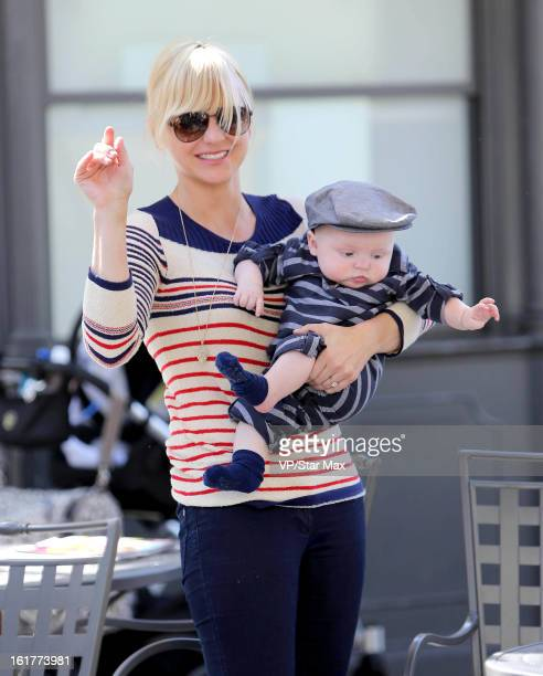 Actress Anna Faris and her son Jack Pratt as seen on February 15 2013 in Los Angeles California