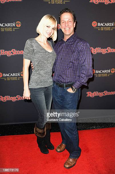 Actress Anna Faris and Rolling Stone Publisher Matt Mastrangelo arrive at Rolling Stone's Bacardi Bash 150 Years of Rocking The Party at The Crane...