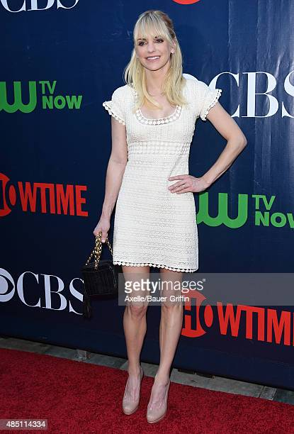 Actress Anna Faris arrives at CBS, CW And Showtime 2015 Summer TCA Party at Pacific Design Center on August 10, 2015 in West Hollywood, California.