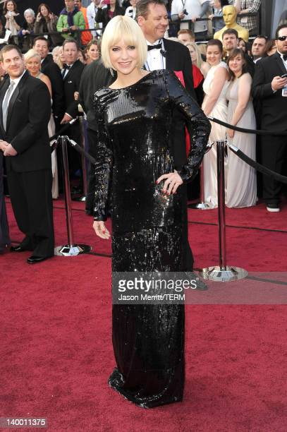 Actress Anna Faris arrives at the 84th Annual Academy Awards held at the Hollywood Highland Center on February 26 2012 in Hollywood California