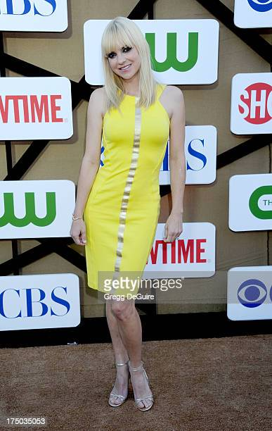 Actress Anna Faris arrives at the CBS/CW/Showtime Television Critic Association's summer press tour party at 9900 Wilshire Blvd on July 29 2013 in...