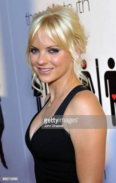 Actress Anna Faris arrives at the Los Angeles premiere of The Ugly Truth held at the Pacific's Cinerama Dome on July 16 2009 in Hollywood California e