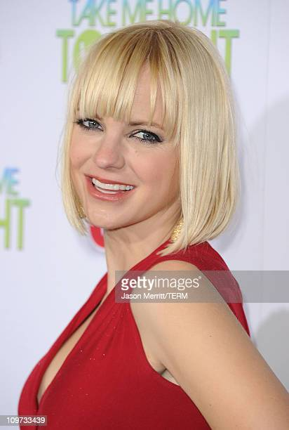 Actress Anna Faris arrives at the Relativity Media premiere of 'Take Me Home Tonight' held at Regal Cinemas LA Live Stadium 14 on March 2 2011 in Los...