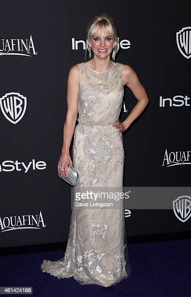 Actress Anna Faris attends the 2015 InStyle and Warner Bros 72nd Annual Golden Globe Awards PostParty at The Beverly Hilton Hotel on January 11 2015...