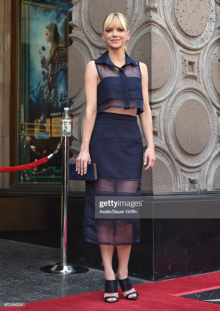Actress Anna Faris attends the ceremony honoring Chris Pratt with a star on the Hollywood Walk of Fame on April 21, 2017 in Hollywood, California.
