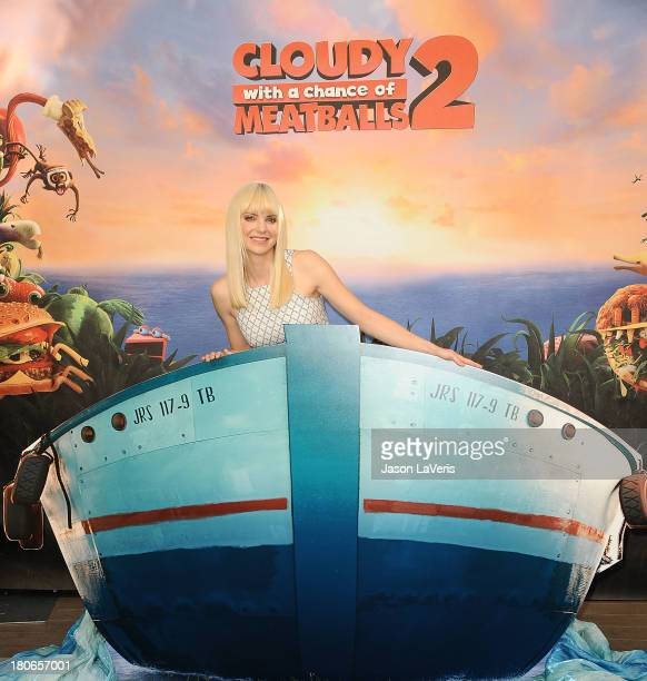 Actress Anna Faris attends the Cloudy With A Chance Of Meatballs 2 Photo Call at Four Seasons Hotel Los Angeles at Beverly Hills on September 15 2013...