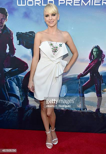 "Actress Anna Faris attends The World Premiere of Marvel's epic space adventure ""Guardians of the Galaxy"" directed by James Gunn and presented in..."