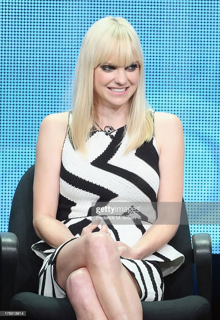 Actress Anna Faris speaks onstage during the 'Mom' panel discussion at the CBS, Showtime and The CW portion of the 2013 Summer Television Critics Association tour at the Beverly Hilton Hotel on July 29, 2013 in Beverly Hills, California.
