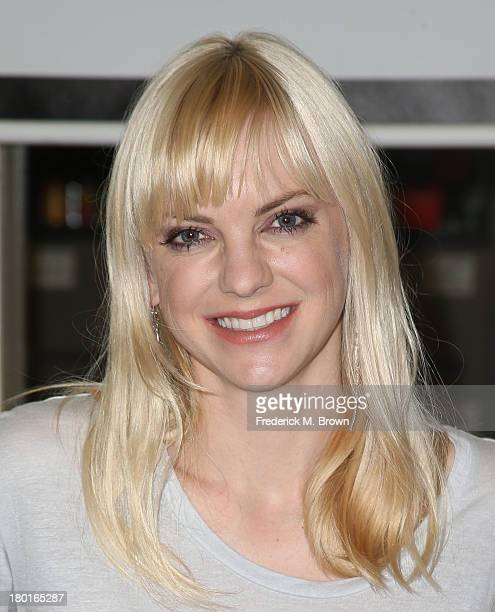 Actress Anna Faris volunteers in support of Hunger Action Month Cloudy with a Chance of Meatballs 2 at the Los Angeles Regional Food Bank on...