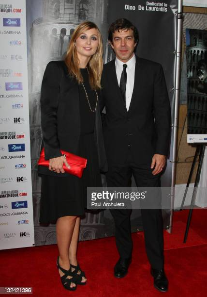 Actress Anna Ferzetti and Pierfrancesco Favino attend the 2011 Cinema Italian Style opening night gala Terraferma Premiere at American Cinematheque's...