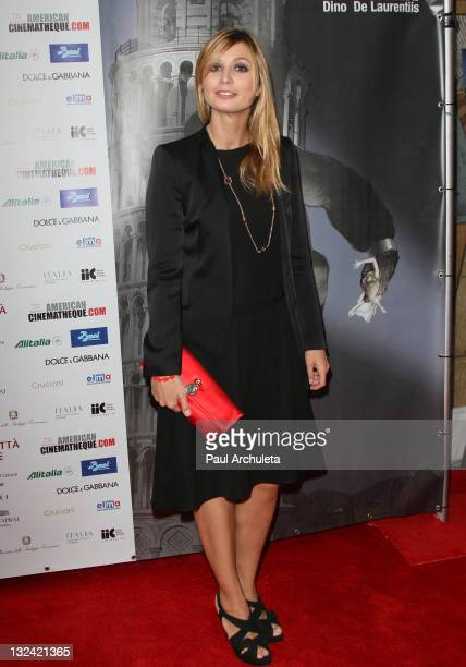 Actress Anna Ferzetti attends the 2011 Cinema Italian Style opening night gala Terraferma Premiere at American Cinematheque's Egyptian Theatre on...