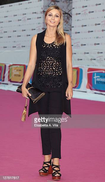 Actress Anna Ferzetti attends the Il Commissario Rex 4 Premiere during the 2011 Rome Fiction Fest at Auditorium Parco Della Musica on September 28...