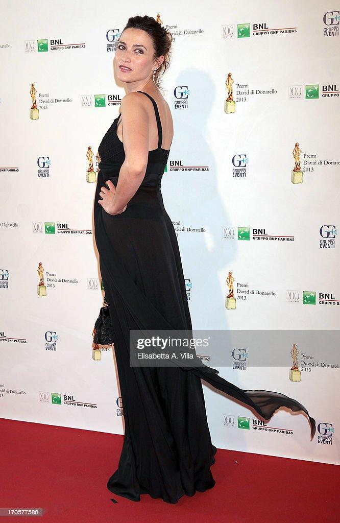 Actress Anna Foglietta attends 2013 Premi David di Donatello Ceremony Awards at Dear RAI Studios on June 14, 2013 in Rome, Italy.