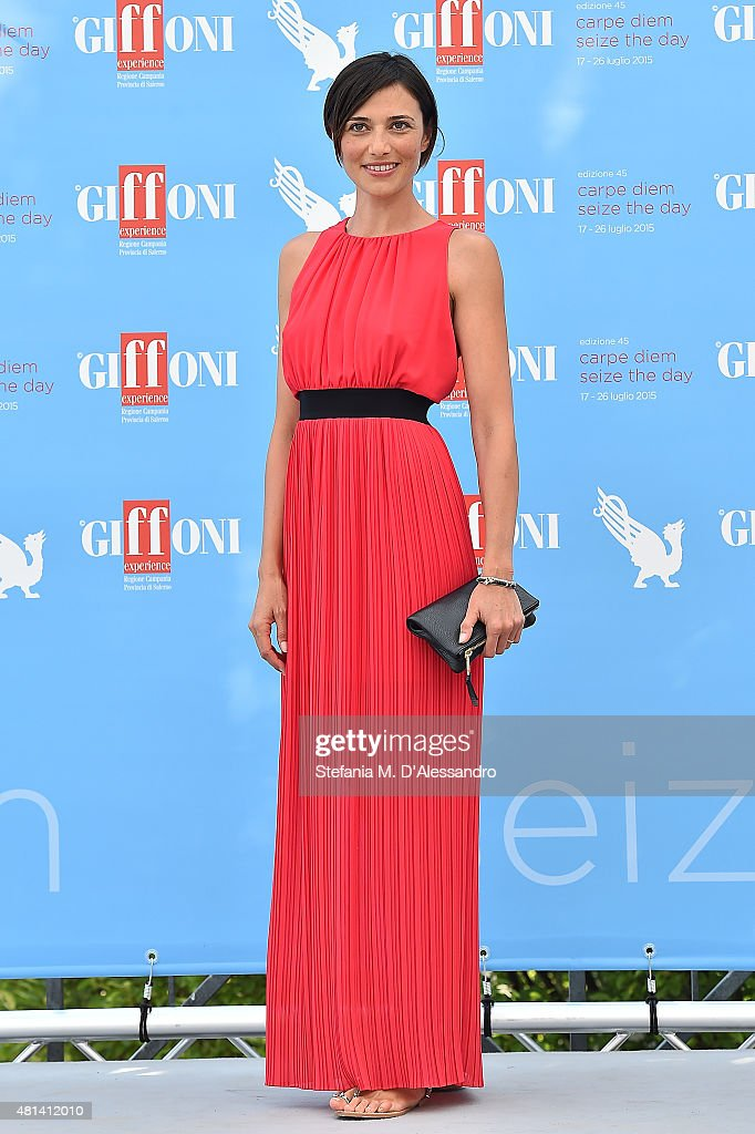 Actress Anna Foglietta attends Giffoni Film Festival 2015 - Day 4 photocall on July 20, 2015 in Giffoni Valle Piana, Italy.