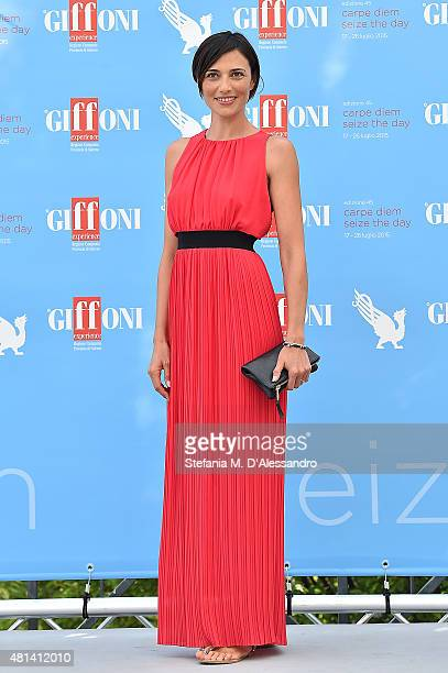 Actress Anna Foglietta attends Giffoni Film Festival 2015 Day 4 photocall on July 20 2015 in Giffoni Valle Piana Italy