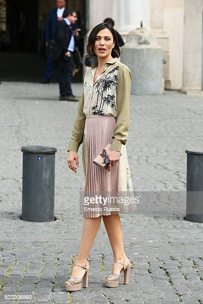 Actress Anna Foglietta attends the 60 David Di Donatello nominees presentation at Palazzo del Quirinale on April 18 2016 in Rome Italy