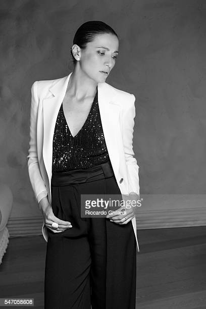 Actress Anna Foglietta is photographed for for Self Assignment on July 2 2016 in Taormina Italy