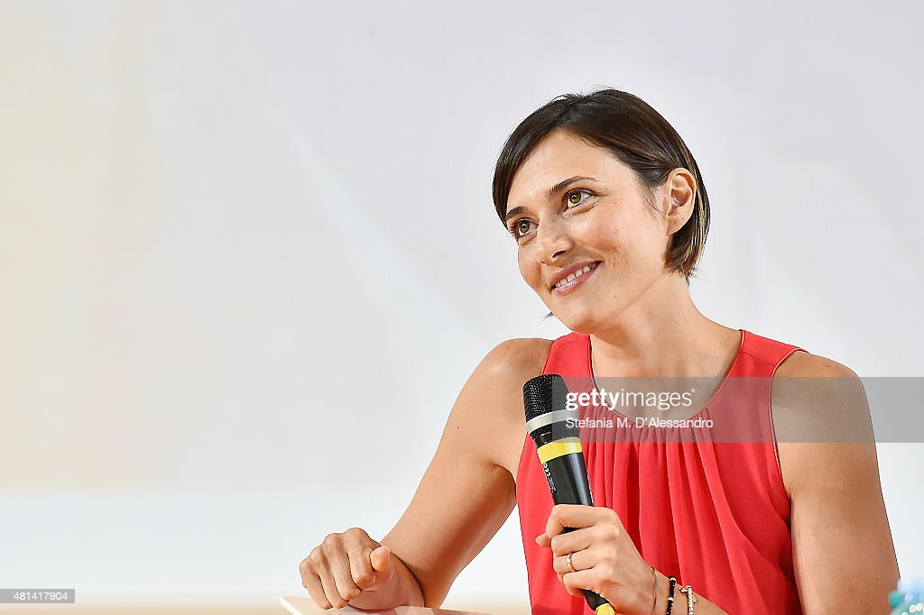 Actress Anna Foglietta participates to the meeting with the jurors during Giffoni Film Festival 2015 on July 20, 2015 in Giffoni Valle Piana, Italy.
