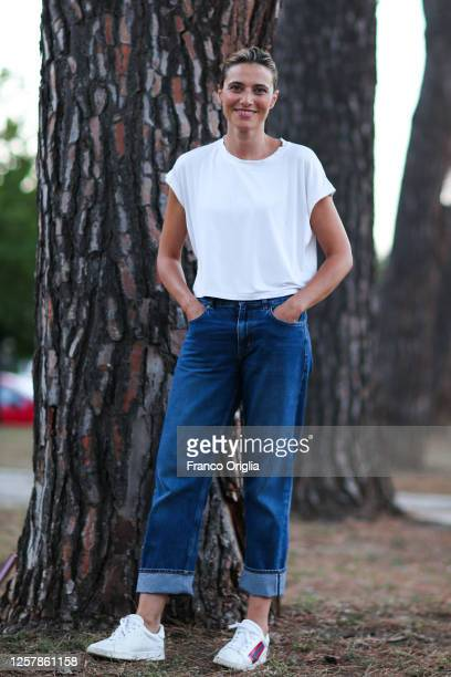Actress Anna Foglietta poses for the photographer at the Mamme Narranti show at Tor Bella Monaca Rome's suburbs on July 23 2020 in Rome Italy Anna...