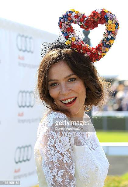 Actress Anna Friel attends Ladies Day at Goodwood on August 1 2013 in Chichester England