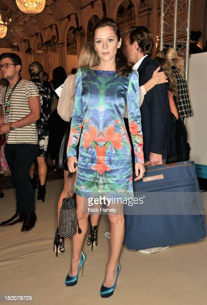 Actress Anna Friel attends the front row for the Temperley show on day 3 of London Fashion Week Spring/Summer 2013 at Freemasons Hall on September 16...