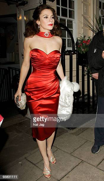 Actress Anna Friel leaves the Haymarket Theatre on December 3 2009 in London England