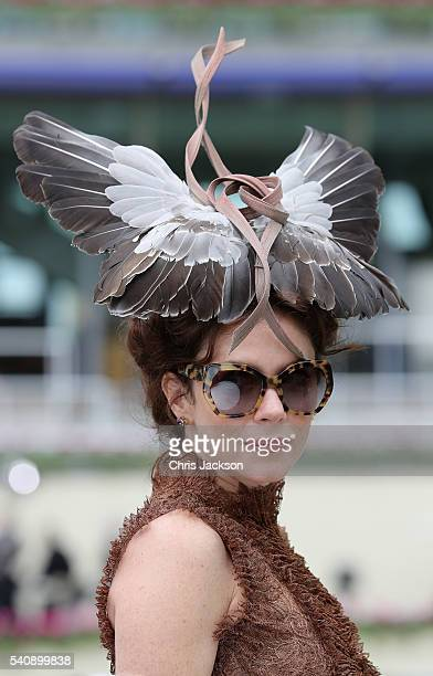 Actress Anna Friel on the fourth day of Royal Ascot at Ascot Racecourse on June 17 2016 in Ascot England