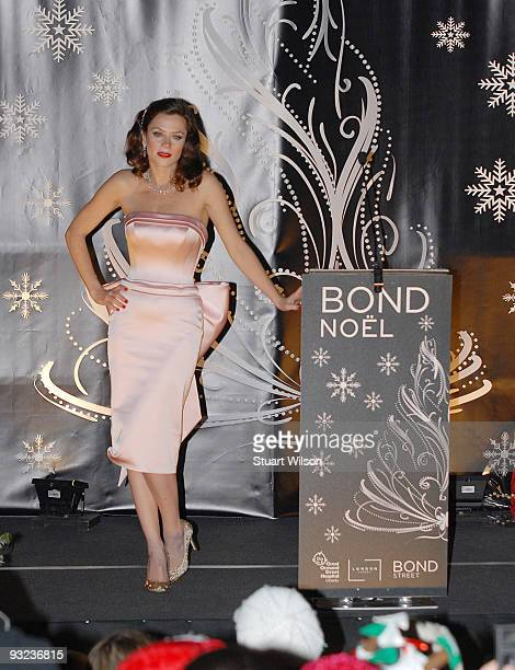 Actress Anna Friel switches on the Bond Street Christmas Lights on November 19 2009 in London England