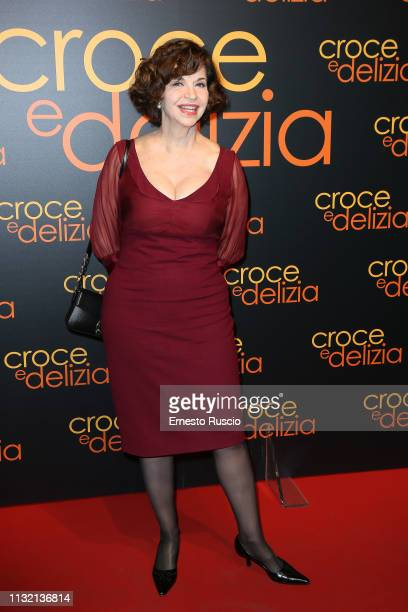 Actress Anna Galiena attends the 'Croce E Delizia' Premiere at Cinema Adriano on February 25 2019 in Rome Italy