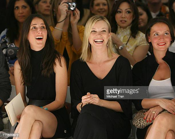 Actress Anna Getty and actress Amy Smart front row at The Green Initiative Humanitarian Fall 2008 collection during Mercedes Benz LA Fashion Week...