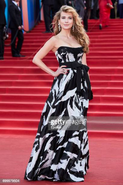 Actress Anna Gorshkova attends opening of the 39th Moscow International Film Festival outside the Karo 11 Oktyabr Cinema on June 22 2017 in Moscow...