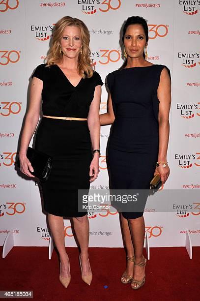 Actress Anna Gunn and Padma Lakshmi attend EMILY's List 30th Anniversary Gala at Washington Hilton on March 3 2015 in Washington DC