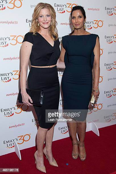 Actress Anna Gunn and Padma Lakshmi attend the EMILY's List 30th Anniversary Gala at Hilton Washington Hotel on March 3 2015 in Washington DC