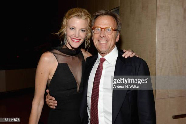 Actress Anna Gunn and producer Mark Johnson attend the Breaking Bad NY Premiere 2013 after party at Lincoln Ristorante on July 31 2013 in New York...