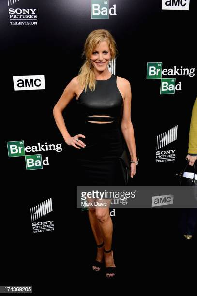 Actress Anna Gunn arrives as AMC Celebrates the final episodes of Breaking Bad at Sony Pictures Studios on July 24 2013 in Culver City California