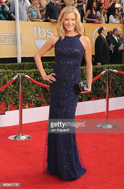 Actress Anna Gunn arrives at the 20th Annual Screen Actors Guild Awards at The Shrine Auditorium on January 18 2014 in Los Angeles California