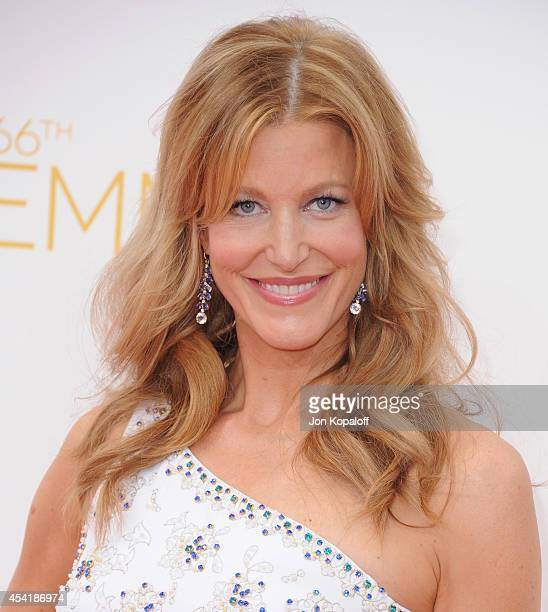 Actress Anna Gunn arrives at the 66th Annual Primetime Emmy Awards at Nokia Theatre LA Live on August 25 2014 in Los Angeles California