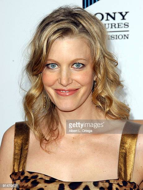 Actress Anna Gunn arrives at the Premiere Screening of AMC's new Sony Pictures' Television drama Breaking Bad held on January 15 2008 at The Cary...