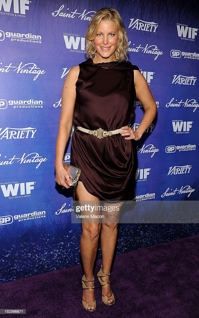 Actress Anna Gunn arrives at the Variety And Women In Film Pre-Emmy Event at Scarpetta on September 21, 2012 in Beverly Hills, California.