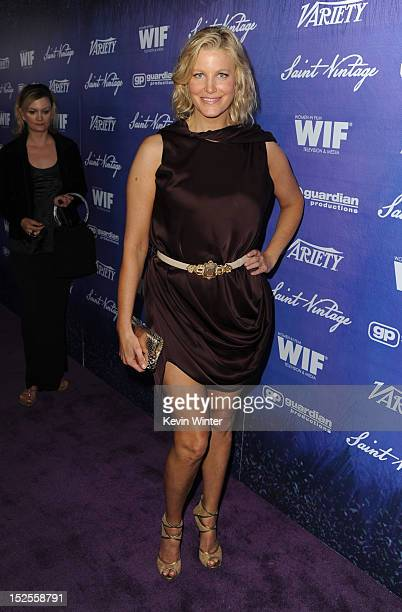 Actress Anna Gunn arrives at Variety and Women in Film PreEMMY Event presented by Saint Vintage at Scarpetta Beverly Hills on September 21 2012 in...